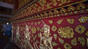 Wat Suan Dok Famous temple in Chiang Mai Thailand with angle arts stock video footage