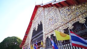 Wat Suan Dok Famous temple in Chiang Mai Thailand with angle arts stock video