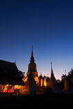 Wat suan dok twilight view Stock Images