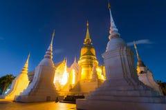 Wat SuanDok Famous Temple di ChiangMai, Tailandia Fotografia Stock