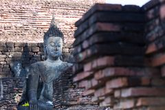 Wat Sukothai,泰国 免版税库存图片