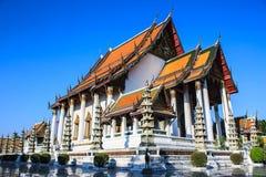 Wat Sutat en Thaïlande Images libres de droits