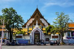 Thai temple (Wat Suthat) Stock Images