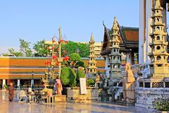 Wat Suthat, Bangkok, Thaïlande photographie stock