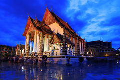 Wat Suthat em Banguecoque, Tailândia fotografia de stock