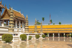 Wat Suthat, royal temple at the Giant Swing in Bangkok in Thailand. Stock Images