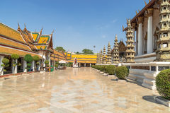 Wat Suthat, royal temple at the Giant Swing in Bangkok in Thailand. Royalty Free Stock Image