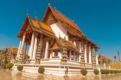 Wat Suthat, royal temple at the Giant Swing in Bangkok in Thailand. Stock Photos