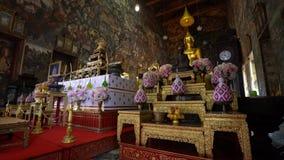 Wat Suthat temple in Bangkok. stock video footage