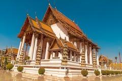 Wat Suthat, templo real no balanço gigante em Banguecoque em Tailândia Fotos de Stock