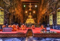 Wat Suthat Thepwararam. Shoot from bangkok Royalty Free Stock Images