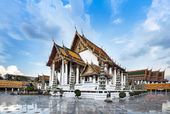 Wat Suthat or Wat Suthat Thep Wararam, Attaction of Bangkok,Thailand. Royalty Free Stock Image