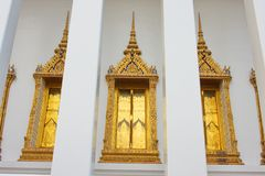 Wat Suthatthepwararam, in Bangkok. Stock Photography