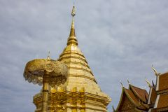 wat suthep phra doi Самый известный висок в chiangmai Стоковые Изображения