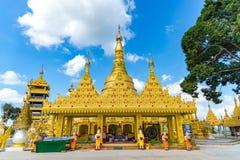 Wat Suwan Khiri, symulacja Złota Shwedagon pagoda, Ranong, Obrazy Royalty Free