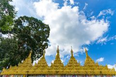 Wat Suwan Khiri, symulacja Złota Shwedagon pagoda, Ranong, Fotografia Stock