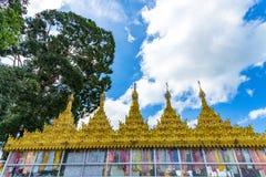 Wat Suwan Khiri, symulacja Złota Shwedagon pagoda, Ranong, Zdjęcia Royalty Free