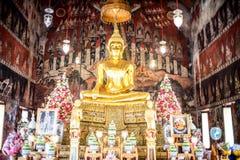 Wat Suwannaram ist ein buddhistischer Tempel in Bangkok, Thailand Lizenzfreie Stockfotografie