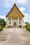 Wat tad luang在万象,老挝 免版税库存照片