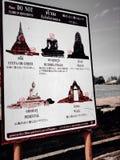 Wat tailandês, Tailândia, ayutthaya, watthai Fotos de Stock Royalty Free
