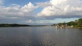 Wat Tampa-Flussansicht Stockfotos