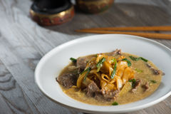 Wat tan hor, popular cantonese fried noodle Stock Photo