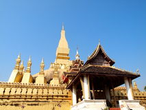 Wat Tat Luang Stupa in Vientiane Royalty Free Stock Photography