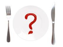 Wat te eten? Royalty-vrije Stock Fotografie