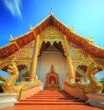 Wat,Temples with golden dragons in Chiang Mai Stock Images