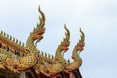 Wat Tha Ngio - βουδιστικός ναός, Lamphun Ταϊλάνδη στοκ φωτογραφία