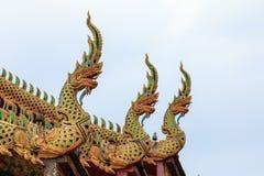 Wat Tha Ngio - buddistisk tempel, Lamphun Thailand arkivbild