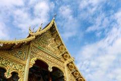 Wat Tha Ngio - buddistisk tempel, Lamphun Thailand royaltyfria foton
