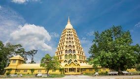 Wat Tha It pagoda gold contemporary beauty, AngThong stock video