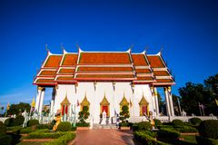 Wat tha Phichit省Luang寺庙  库存图片
