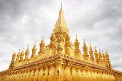 Wat Thadlaung. The golden temple at Wat Thadlaung Royalty Free Stock Photo