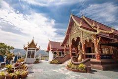Wat Thadoichaa in Meatha, Lamphun, Tailandia Fotografie Stock