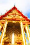 Wat Thai bonito, arquitetura tailandesa do templo fotografia de stock