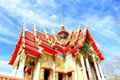 Wat Thai bonito, construção tailandesa da arquitetura do projeto do templo imagem de stock