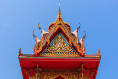 Wat Thai buddhist temple roof Royalty Free Stock Image