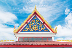 Wat Thai buddhist temple roof Stock Photo