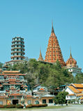 Wat thai and chinese style in thailand. Wat thai and temple chinese style in thailand Stock Images