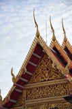 Wat Thai. Roof of Thai temple Royalty Free Stock Photography