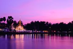 Wat thai at sunset Stock Photos