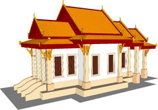 Wat Thai Temple. Stock Photo