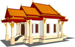 Wat Thai Temple. Stock Photos