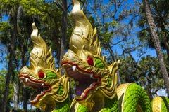 Wat Thai Temple Dragons Photographie stock