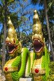 Wat Thai Temple Dragons Photo stock