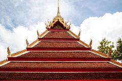 Wat thai temple. And roof Royalty Free Stock Photography