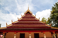 Wat thai temple. And roof Royalty Free Stock Images