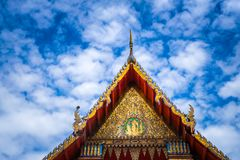 Wat Thai Temple for worship. it`s faith of buddhism. To pray for god helpful and goodluck in Thailand. Wat Thai also have beautiful golden architecture Royalty Free Stock Photo